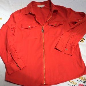 Orange Michael Kors shirt, size 10